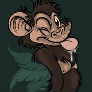 Chimpanzé - Chimpanzee (by Titash)