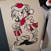 Titash Sketchbook : Meerky Christmas