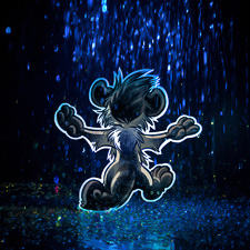 Meerkat in the rain